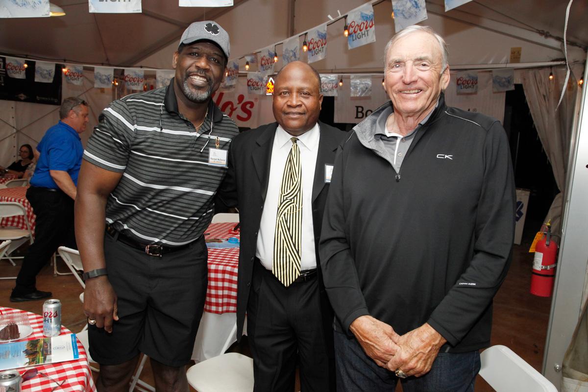NFL HOF Randall McDaniel, NFL Dave Atkins, NFL HOF Dave Wilcox